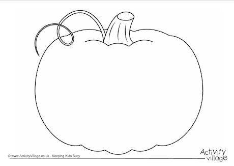 Autumn Halloween Craft Pumpkin Frame. This lovely pumpkin