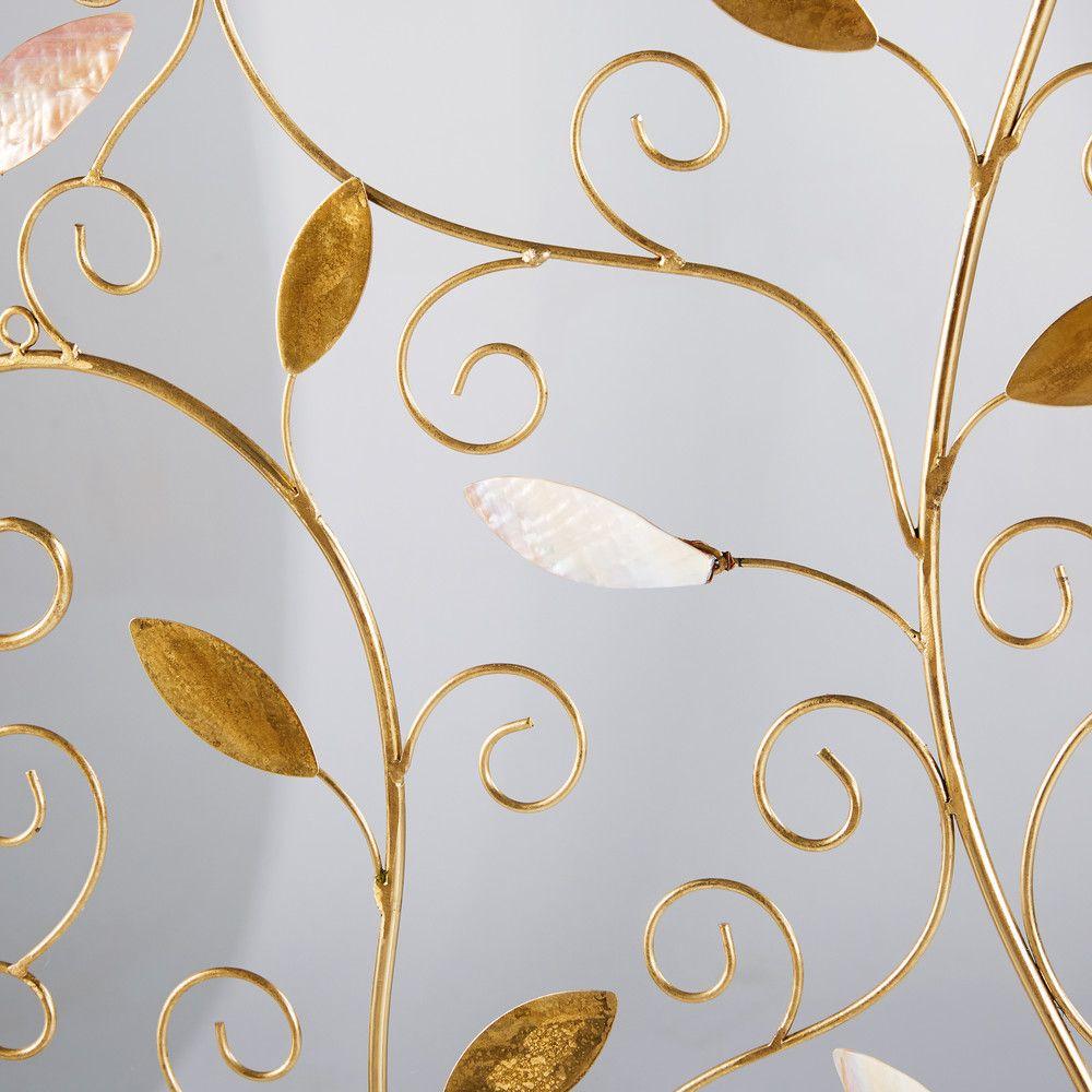 Decorazioni Da Parete In Metallo.Decorazione Da Parete Albero In Metallo Dorata 118x97 Arredamento