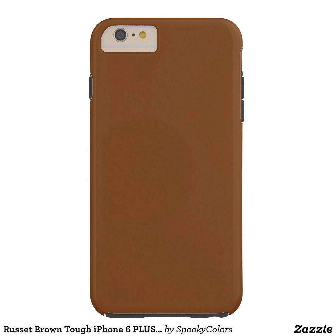Russet Brown Tough iPhone 6 PLUS Case