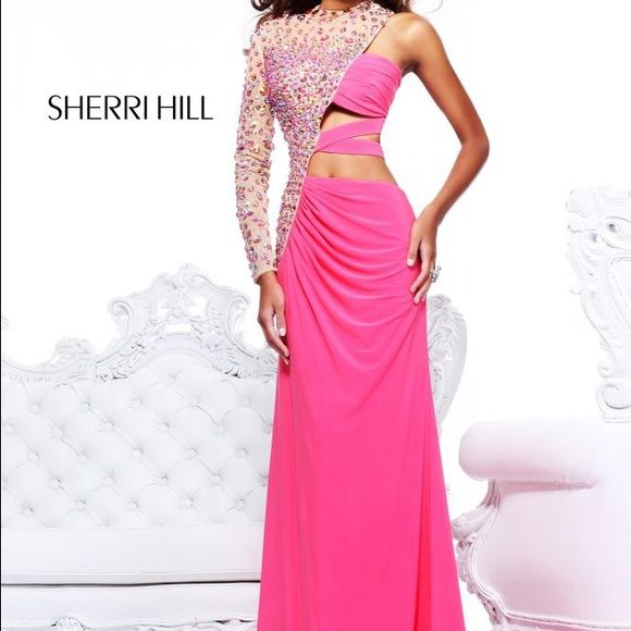 Sherri Hill prom dress One shoulder sparkly prom dress. Only worn ...
