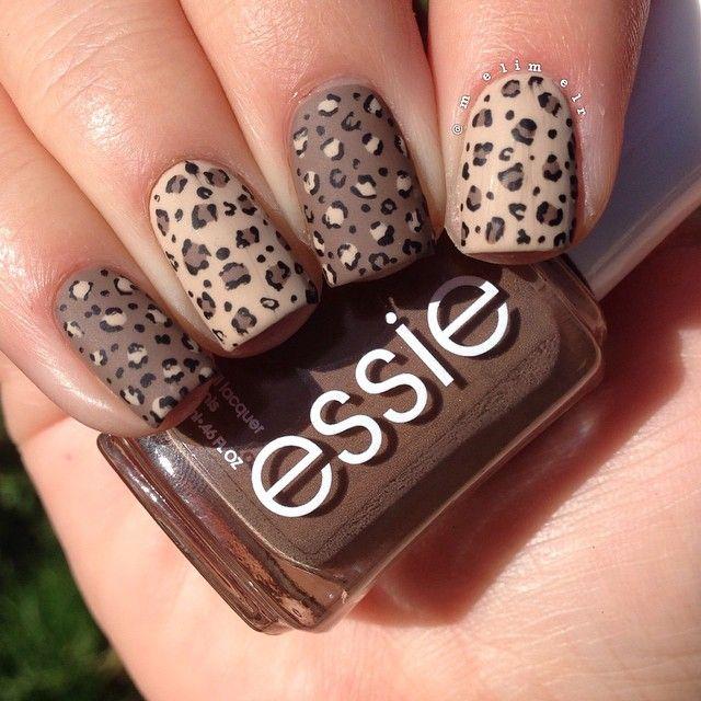 matte inverted brown leopard