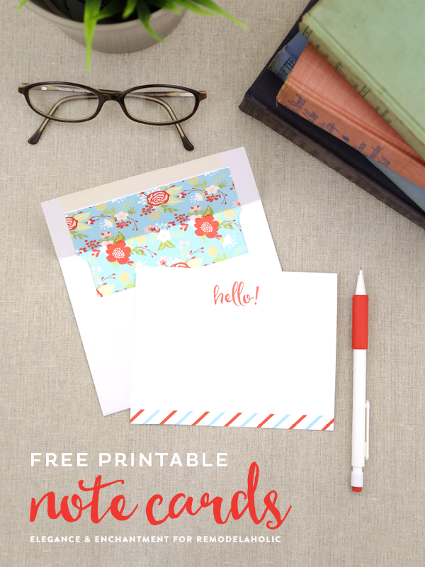 Free Printable Note Cards