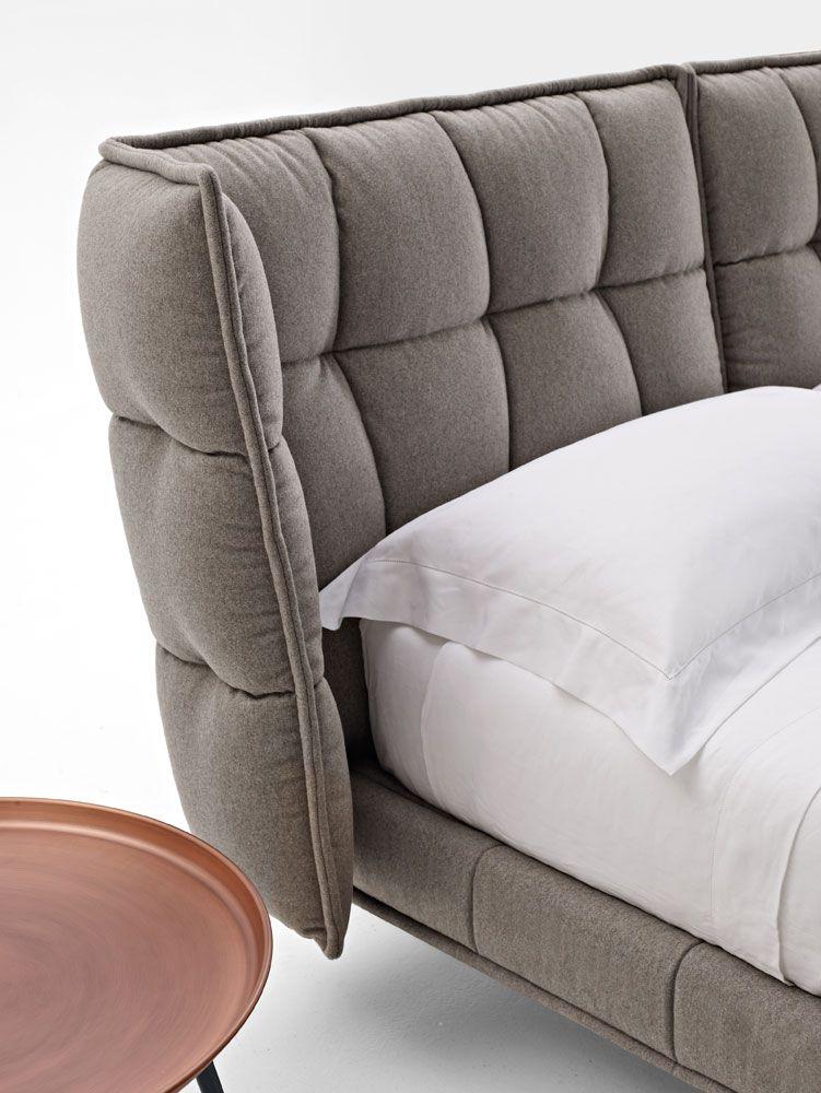 Bett HUSK - Sammlung B\B Italia - Design Patricia Urquiola - italienische schlafzimmer katalog
