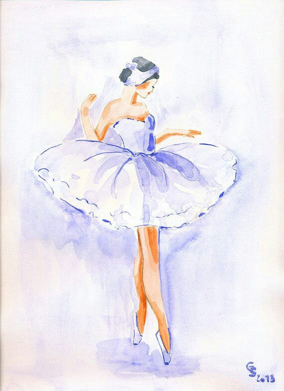 Epingle Par Cathy Carteries Sur Danseuse Danseur Aquarelle