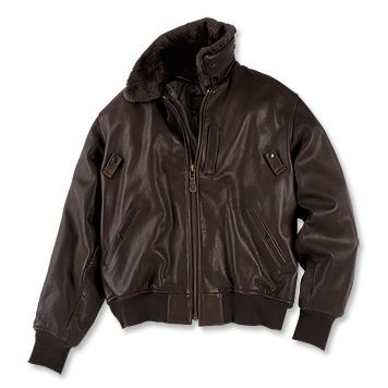 1944 style coats | Men's Leather Bomber Jacket / B-15 Leather Jacket -- Orvis