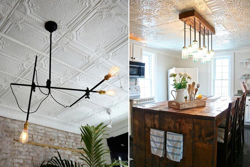 Paneles estaño - Decoración techos y paredes | casas | Pinterest ...