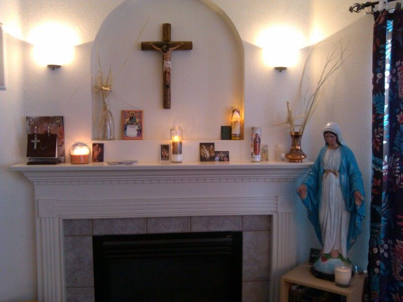 Our Catholic home altar. | The Domestic Church | Pinterest | Altars