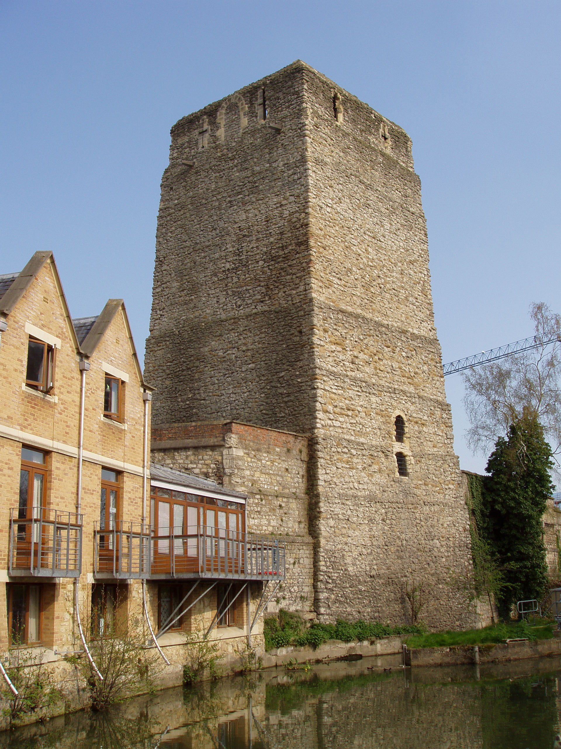 St Peter's College, Oxford. Accommodation block next to Saxon tower