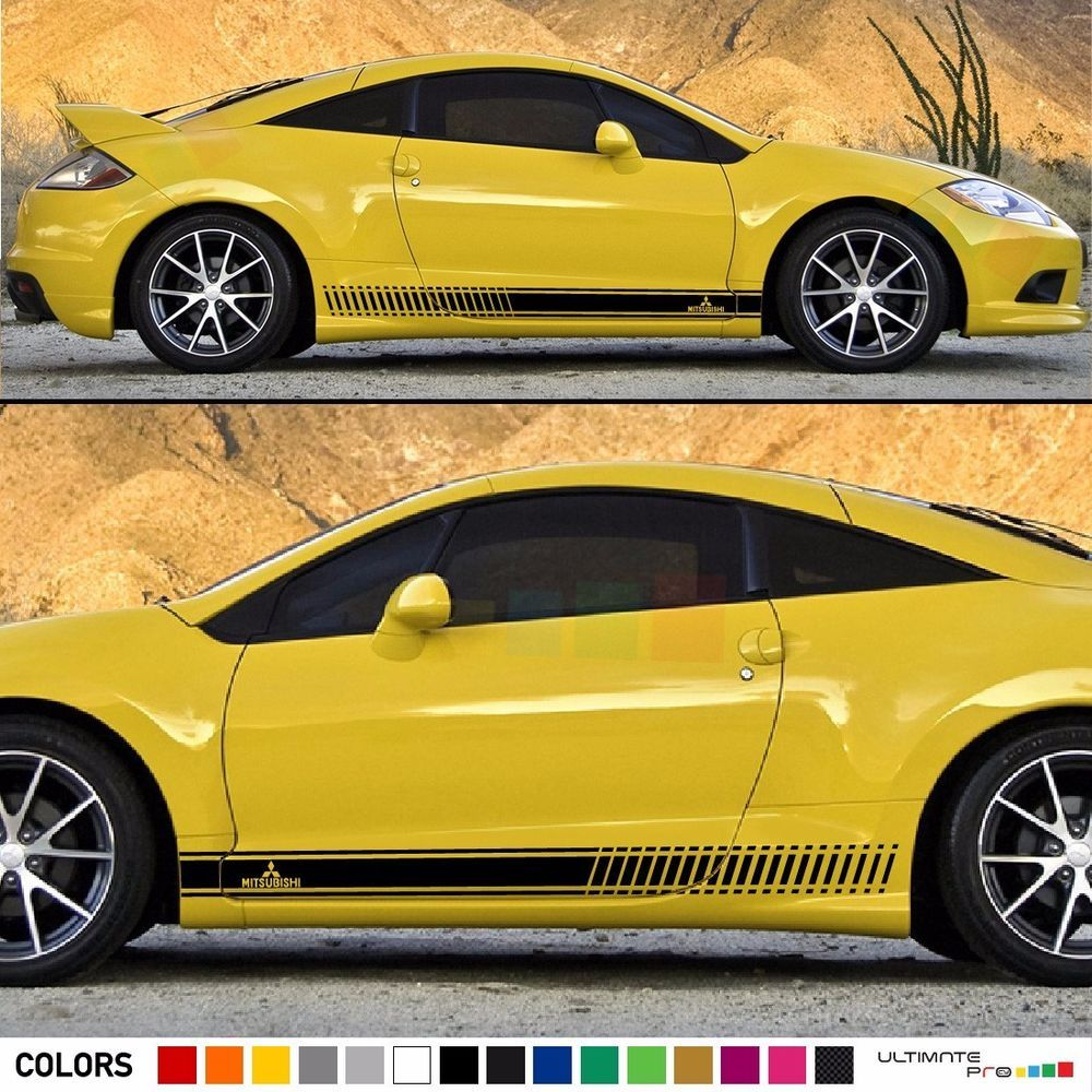 Decal Sticker Stripe Kit For Mitsubishi Eclipse 2006 2012 Spoiler 2g Headlight Wiring Harness Lip Splitter Ultimateprocy1