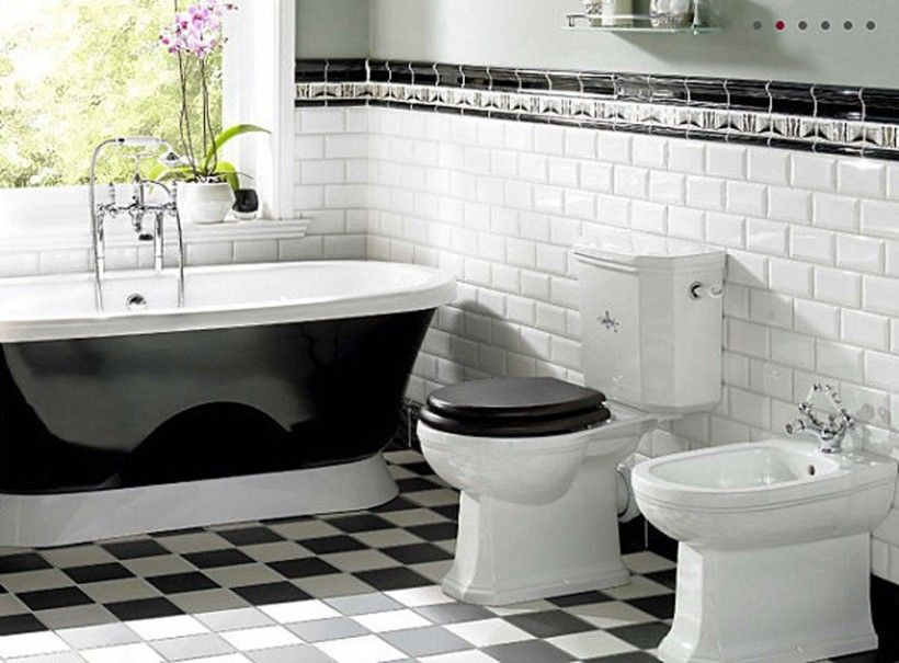 Delicieux Black And White Checkered Bathroom Floor   Bing Images