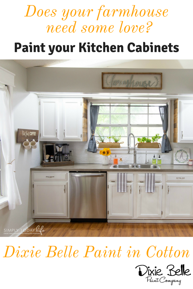 Does Your Farmhouse Need Some Love Paint Your Kitchen Cabinets With Dixie Belle Paint These Cabine Dixie Belle Paint White Painted Furniture Kitchen Cabinets