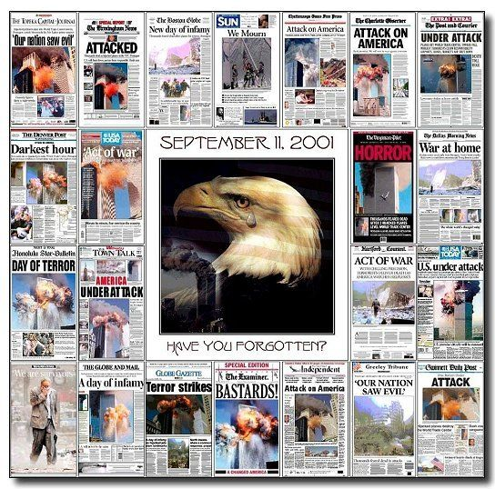 9/11 Newspaper Headlines | Newspaper headlines from around the world after Sept. 11th | Newspaper headlines, Remembering 9/11, 911 never forget
