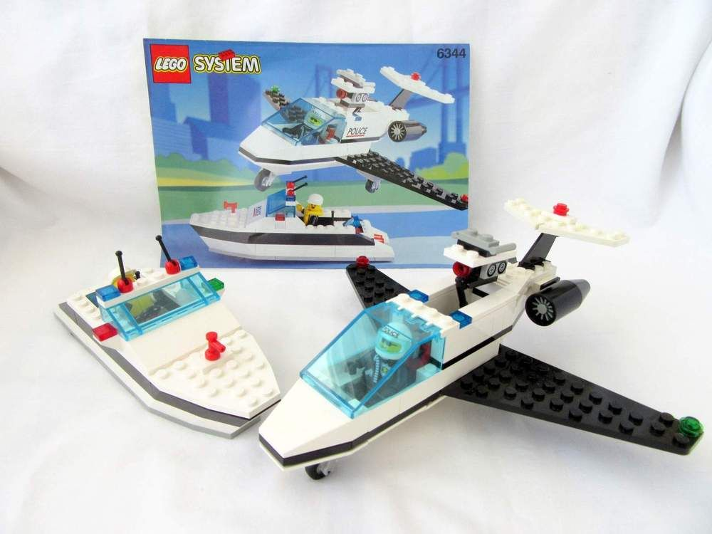 Lego System 6344 Town Rescue Jet Speed Juice With Instructions