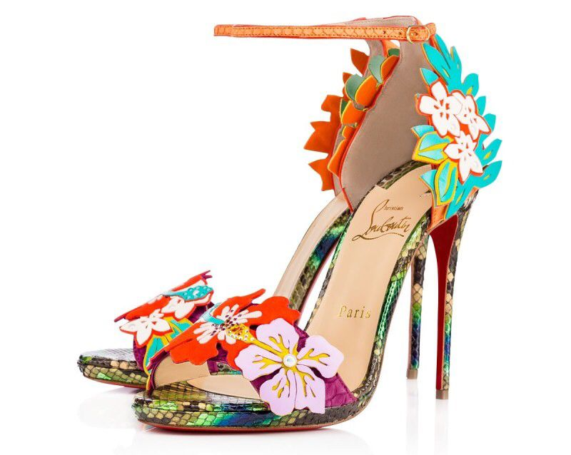 7cb81a37 Christian Louboutin tropical flowers £1,395 | Shoes | Shoes ...