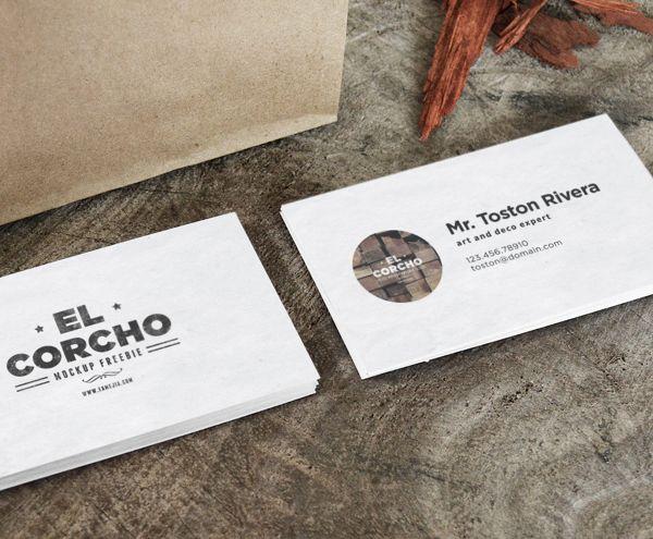 Business Card Mock Up PSD Freebie By Eduardo Mejia Via Behance
