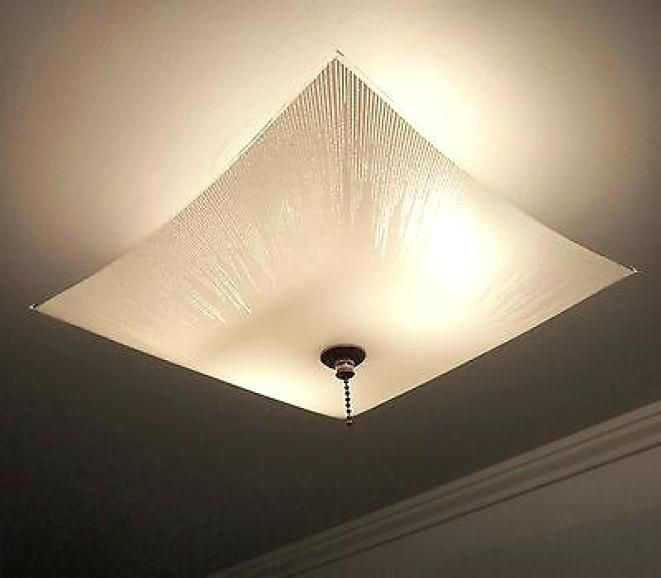 Ceiling Lights Square Glass, Light Fixture Ceiling Cover