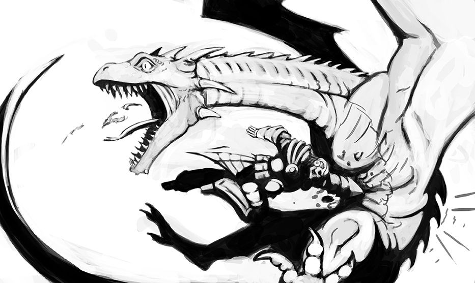 Dragon Punch Literally Punching A Dragon In The Gut Dragon Punch Dungeons And Dragons Fantasy Art