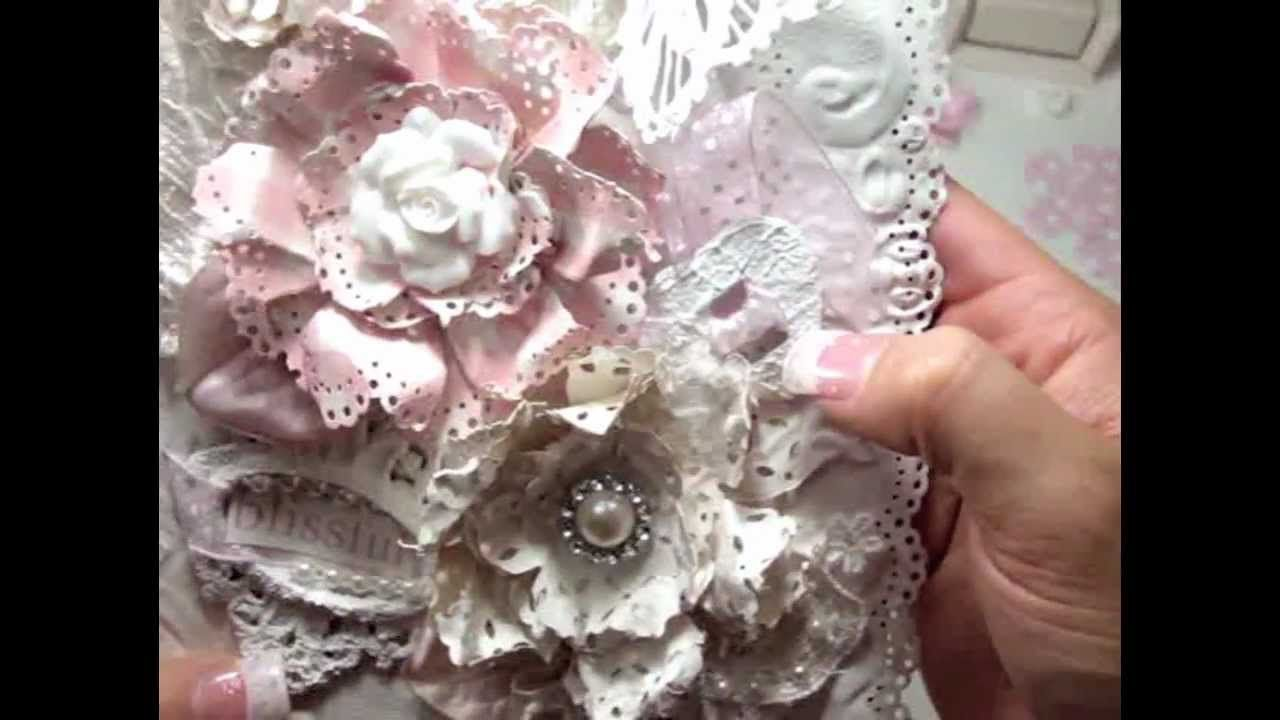 Tutorial Doily Paper Flower Diy Flower Inspirations Pinterest