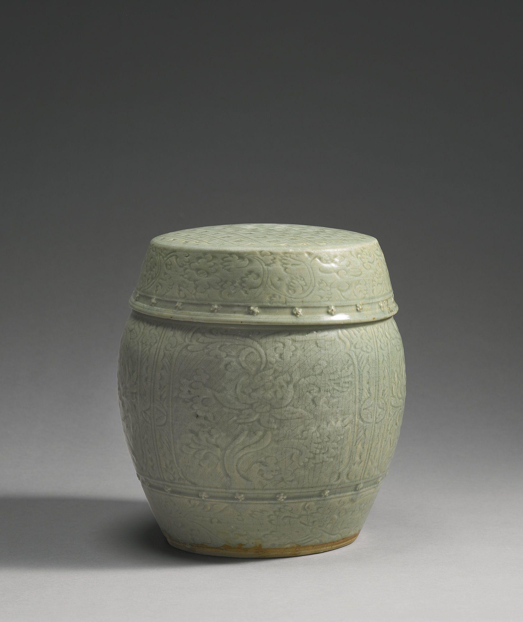 A u0027Longquanu0027 celadon garden stool (Zuodun) Ming dynasty 15th- & A u0027Longquanu0027 celadon garden stool (Zuodun) Ming dynasty 15th ... islam-shia.org