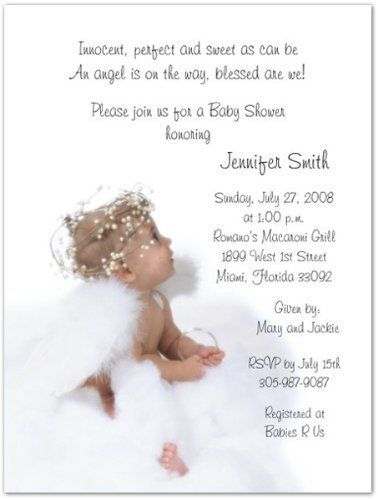 Angel Wings Baby Shower Invitations 3580 Baby Shower Invitations