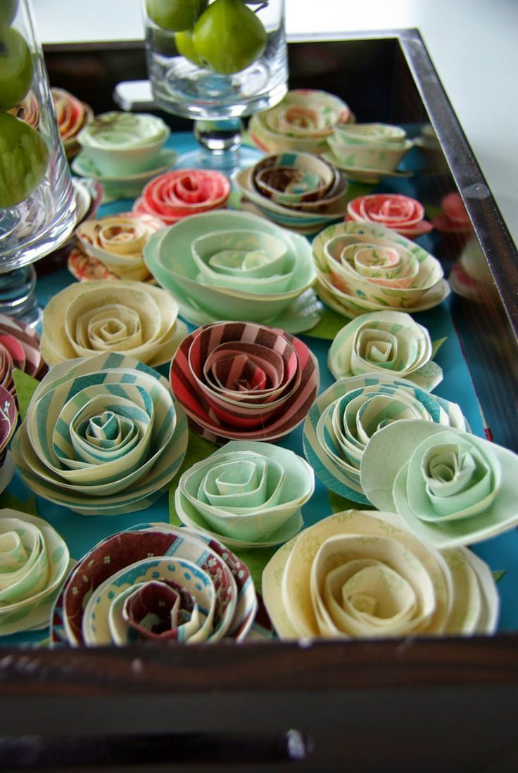 Our house now a home projects how to make simple paper flowers how to make simple paper flowers for mightylinksfo