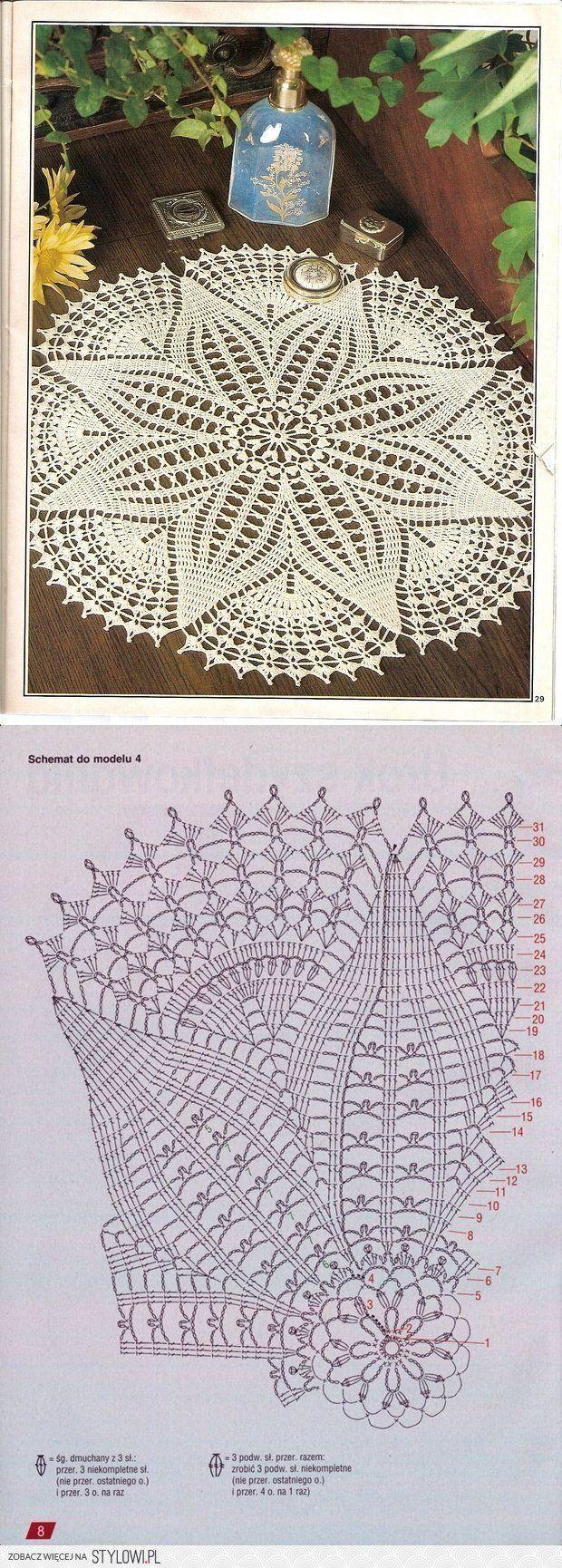 serwetka / szydełko | Tricot knit | Crochet Doilies ...