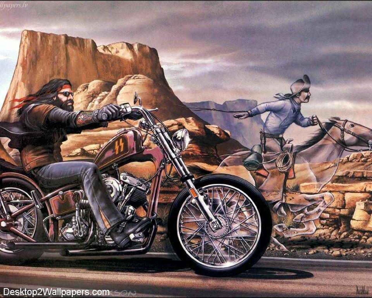 Ride Free Harley Davidson Wallpaper Biker Art David Mann Art