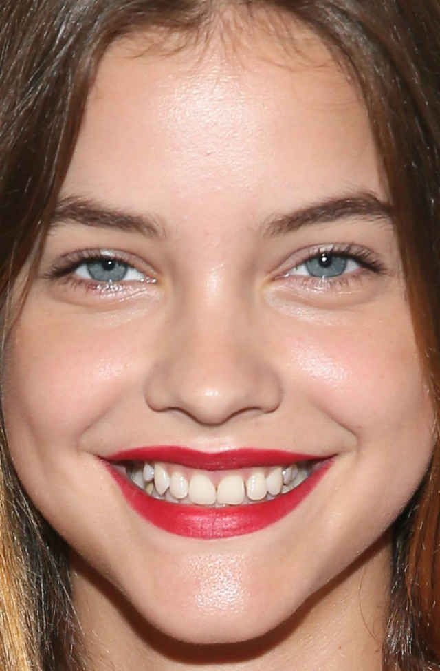 Close-up of Barbara Palvin at the 2015 amfAR generationCURE event.