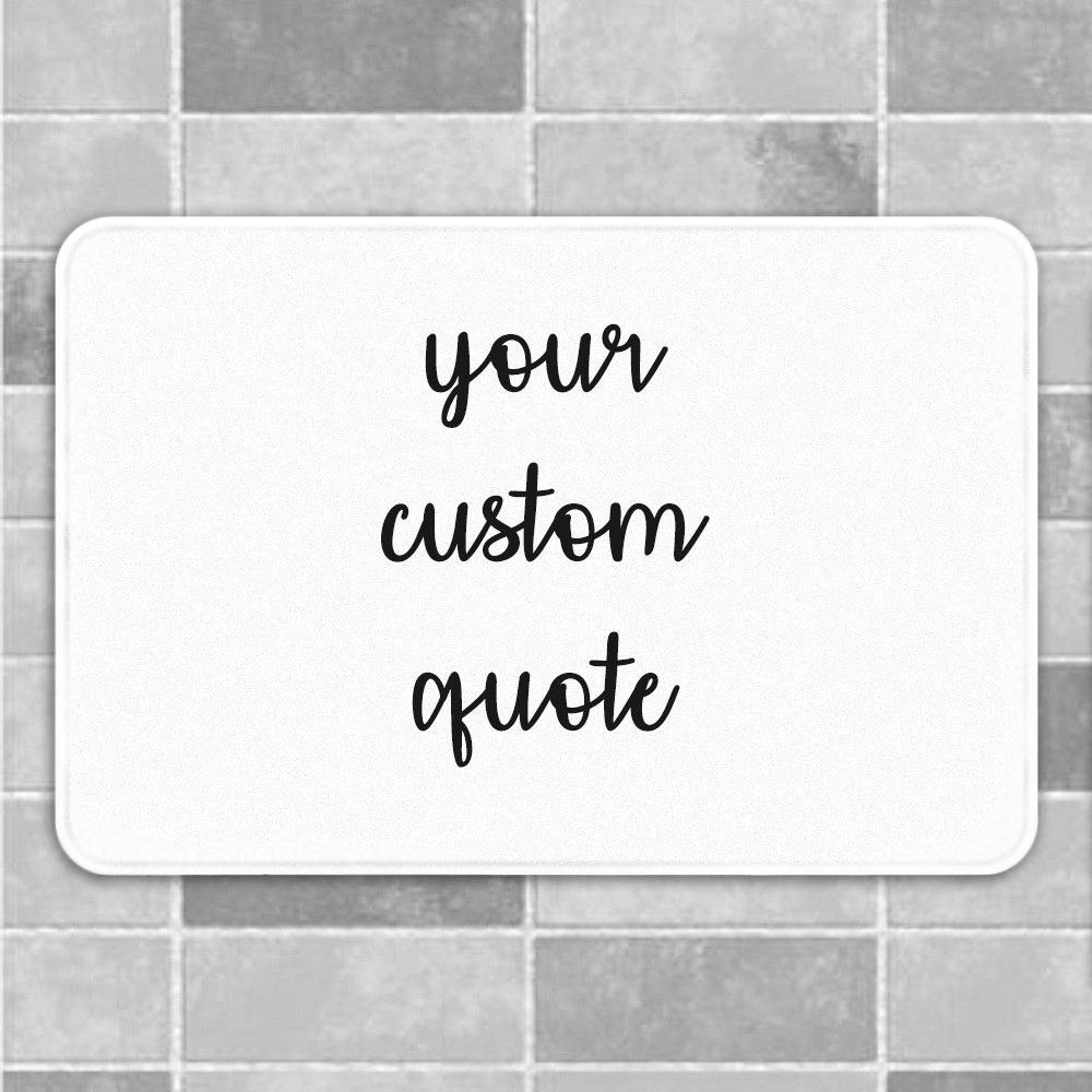 Custom Bath Mat Custom Bath Rug Funny Bath Mat Personalized