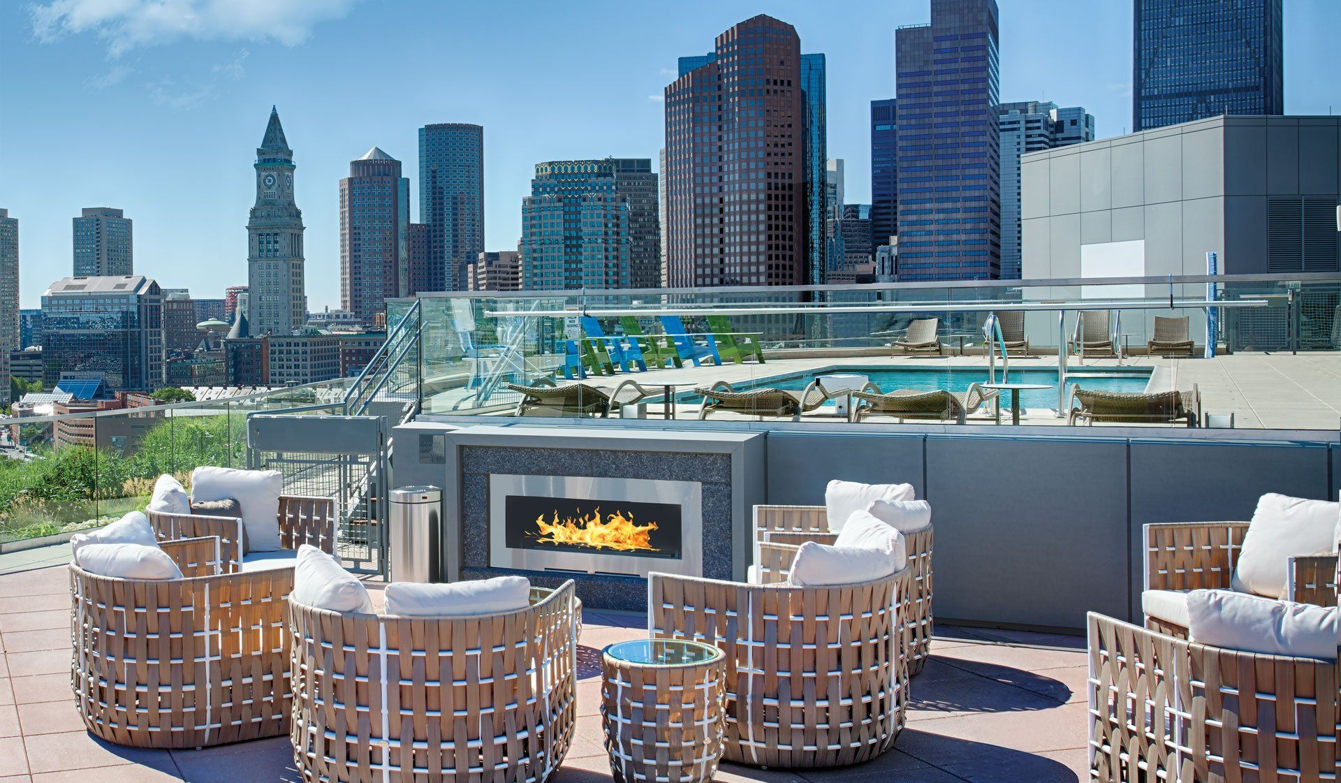 Featured Amenities Outdoor Furniture Sets Living In Boston Apartment