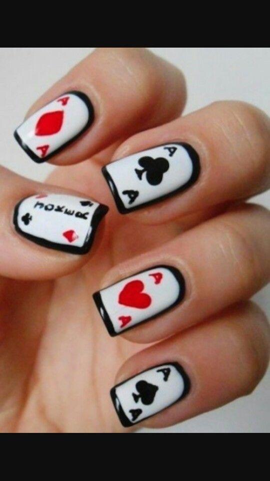Pin by Ro Velasquez on Nail Art | Pinterest | Poker