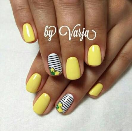 Nails Yellow Lemon 64+ Ideas