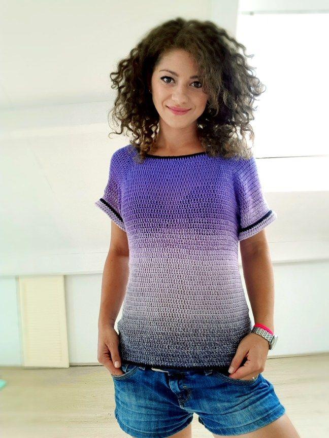 Basic T Shirt In Crochet Bykaterina Crochet Patterns Crochet