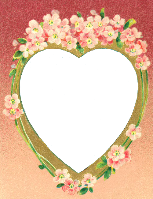 Free Valentine PNG Image Pink Heart Frame ~ Leaping Frog Designs ...