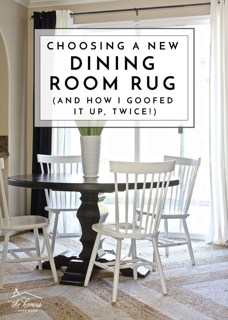 Choosing a New Dining Room Rug And