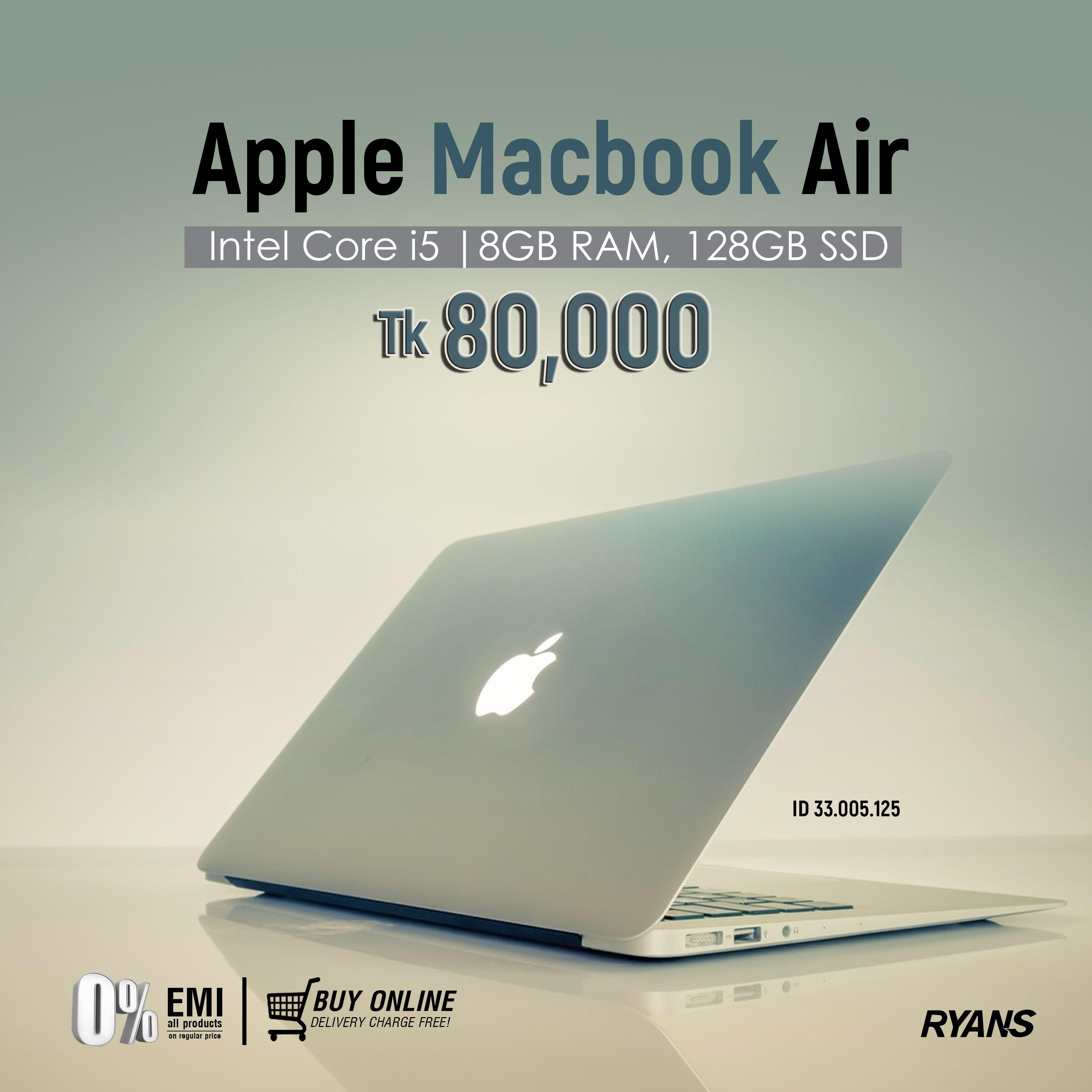 Apple Macbook Air 2017 Dual Core Intel Core I5 1 8 2 9ghz 8gb