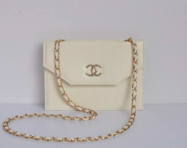 Chanel Handbags 2012 Outlet Beige Leather Gold Hardware