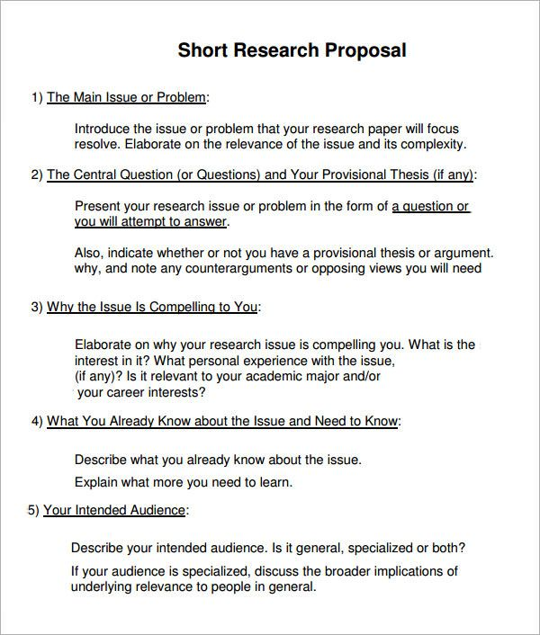 Research Proposal Templates 10+ Free Printable Word  PDF Samples