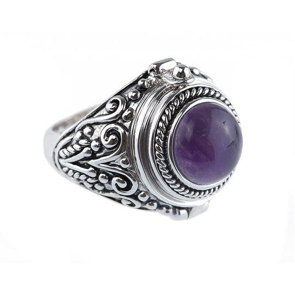 ROCK 'N ROSE Fortune Amethyst Poison Ring (£34) ❤ liked on Polyvore featuring jewelry, rings, rock 'n rose, statement rings, cocktail rings, amethyst rings and amethyst cocktail ring