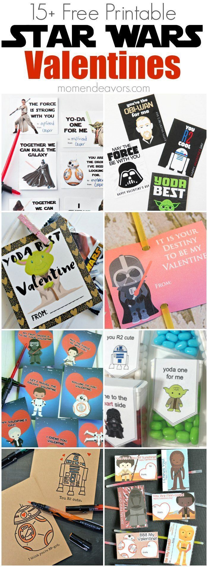 Printable Star Wars Valentines - so many fun Star Wars cards for Valentine's Day!