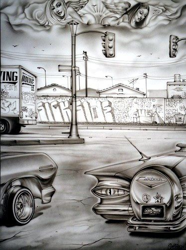 Out in tha streets joker brand chicano art chicano drawings chicano art cholo art - Joker brand wallpaper ...