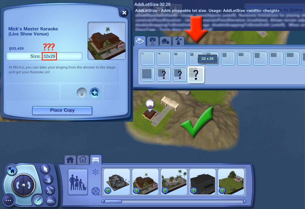 Allows you to add variable lot sizes via the cheat console   Sims 3