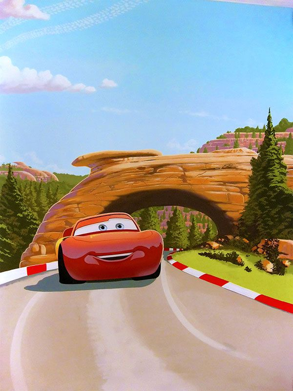 Cars Mural With Lightning McQueen Part 40
