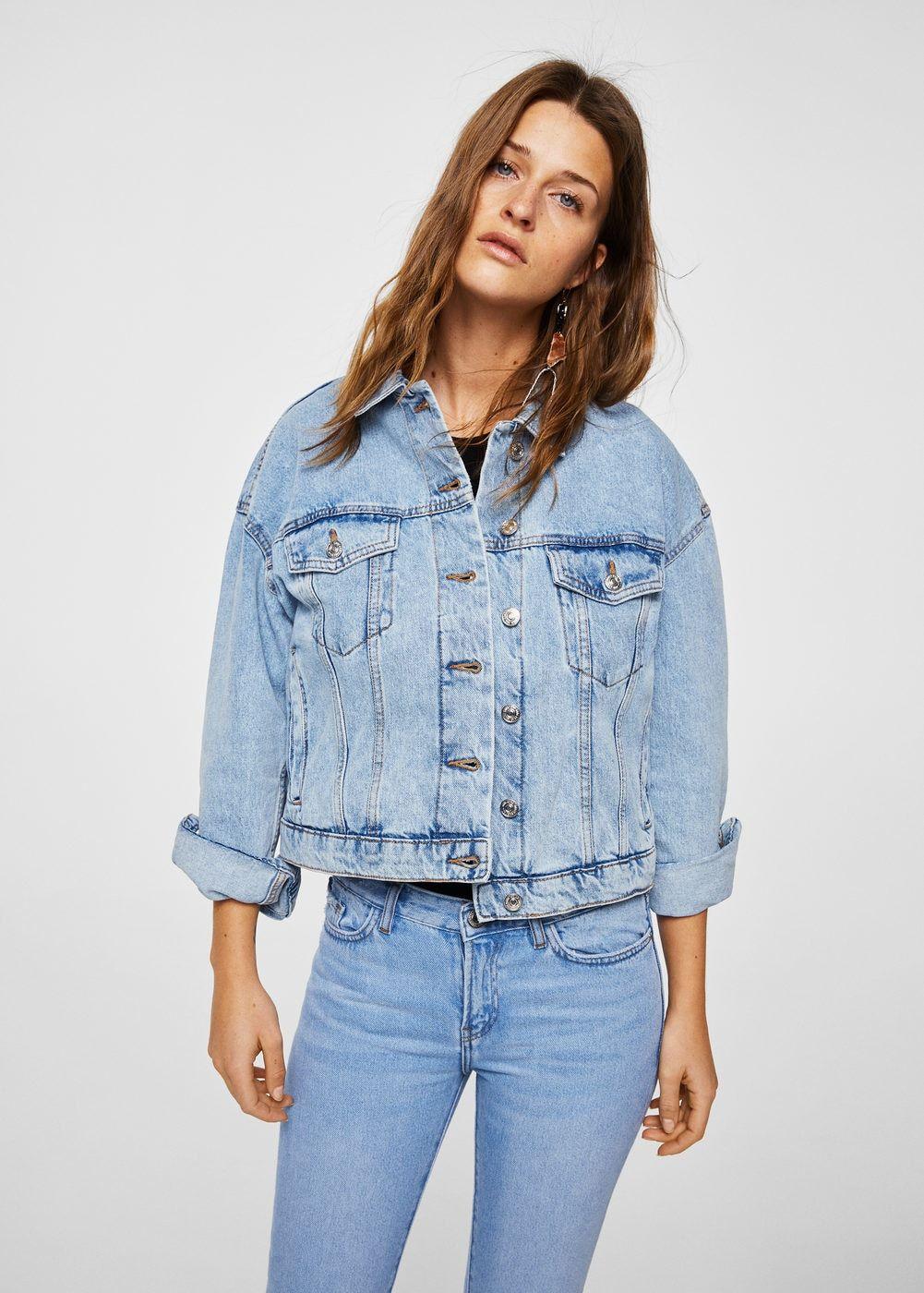 Crop Denim Jacket Women Mango United Kingdom Denim Fashion Mont Moda Stilleri