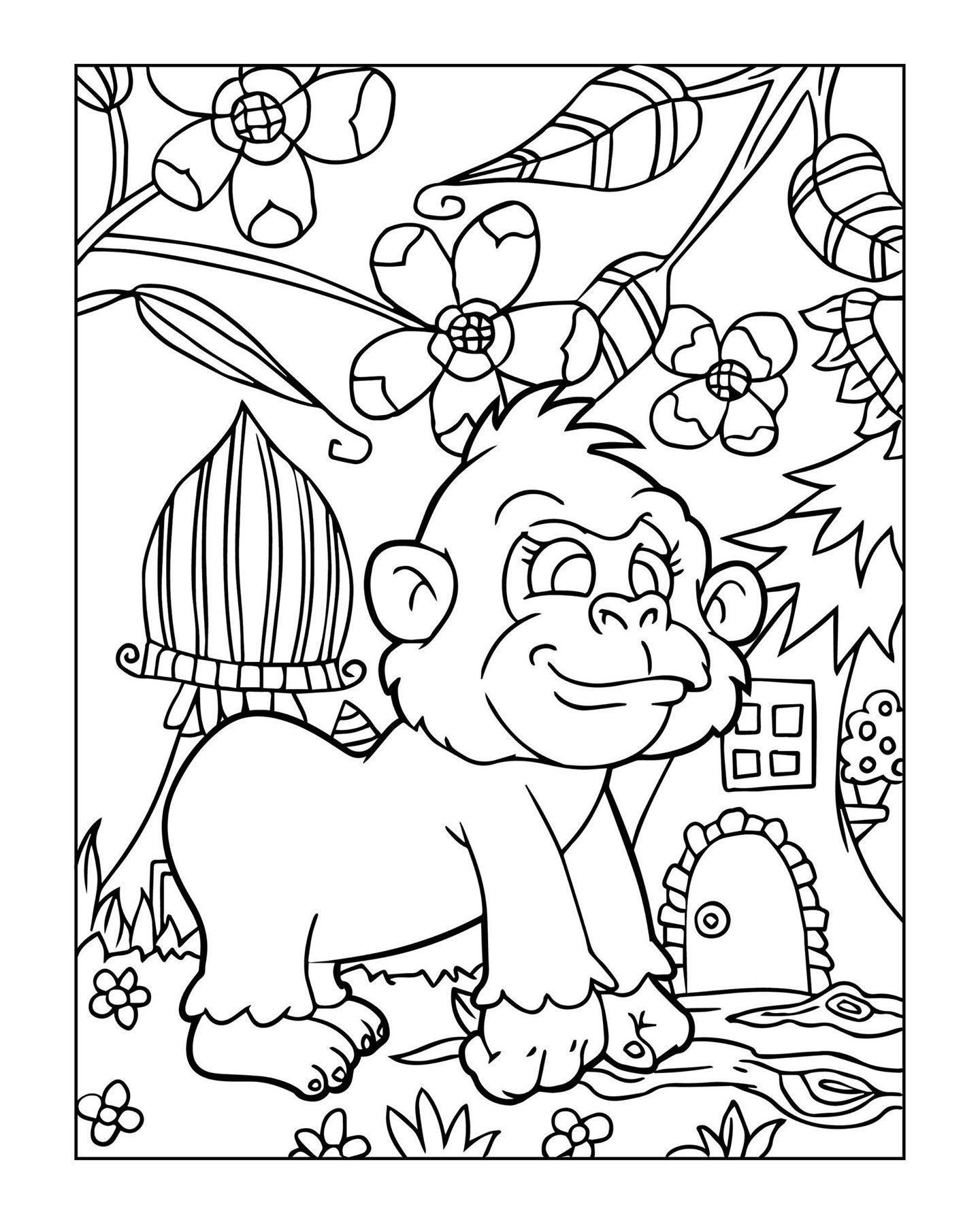 Zoo Animal Coloring Page 7 Zoo Animal Coloring Pages Animal Coloring Pages Coloring Pages [ 1799 x 1440 Pixel ]