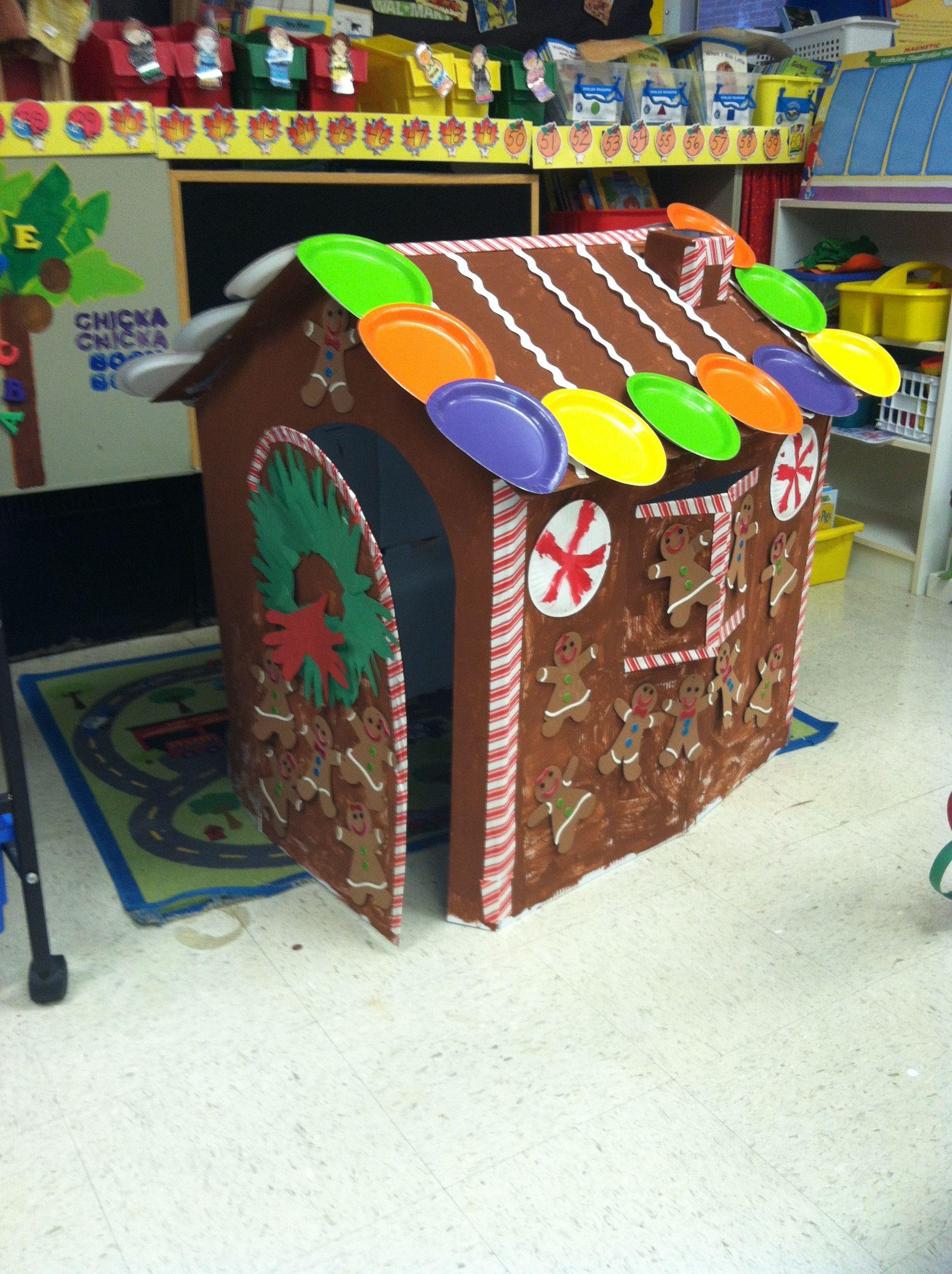Life Size Gingerbread House For Kindergarten