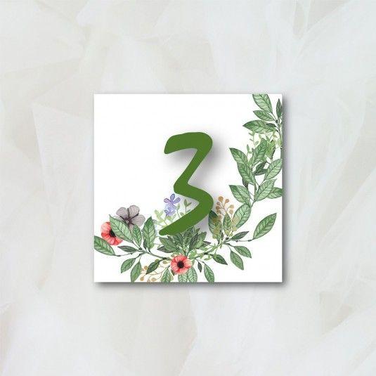Numéro de table - Bucolique - Papeterie Mariage