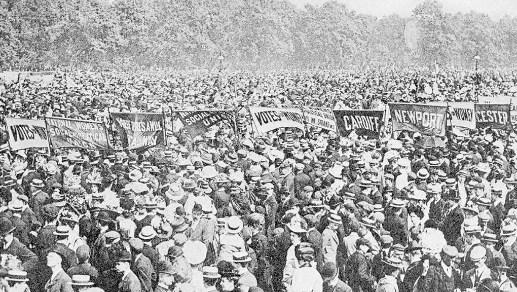 Image result for suffragettes hyde park march 1908