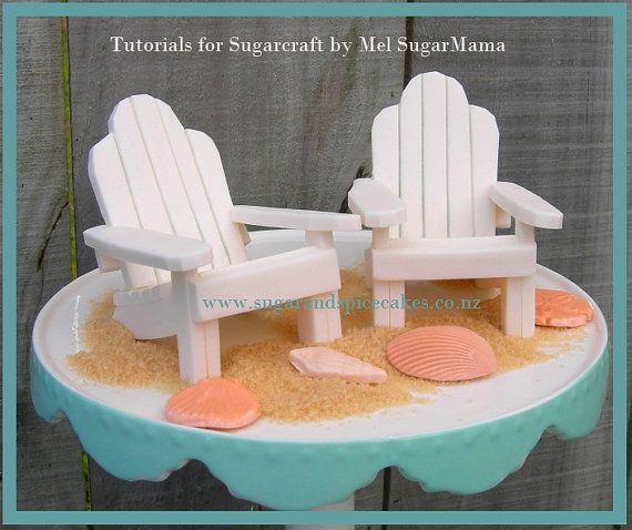 Adirondack Beach Chair Cake Topper Tutorial Tutorial In Pdf