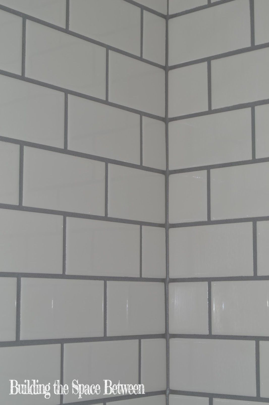Building the space between the thick grey line bathroom